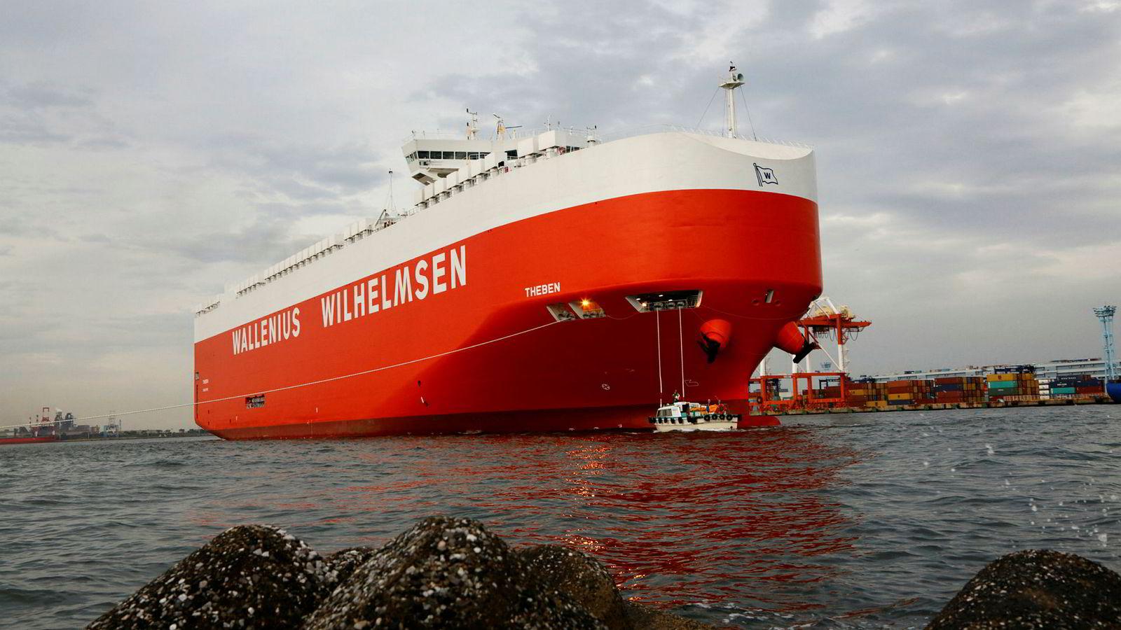 Et av de store bilskipene i Wallenius Wilhelmsen-flåten, «Theben».