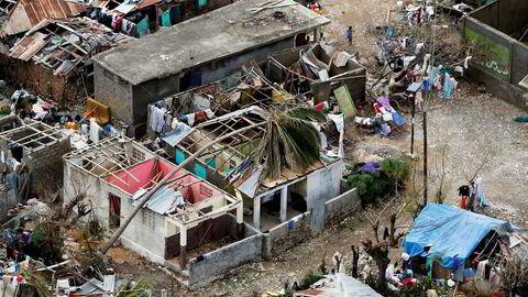 Fredag ettermiddag var 478 mennesker bekreftet omkommet på Haiti, ifølge Reuters.                    Foto: Carlos Garcia Rawlins/Reuters/NTB Scanpix