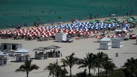 Miami Beach i USA er én av mange feriedestinasjoner som er blitt dyrere for nordmenn på grunn av svak norsk krone.