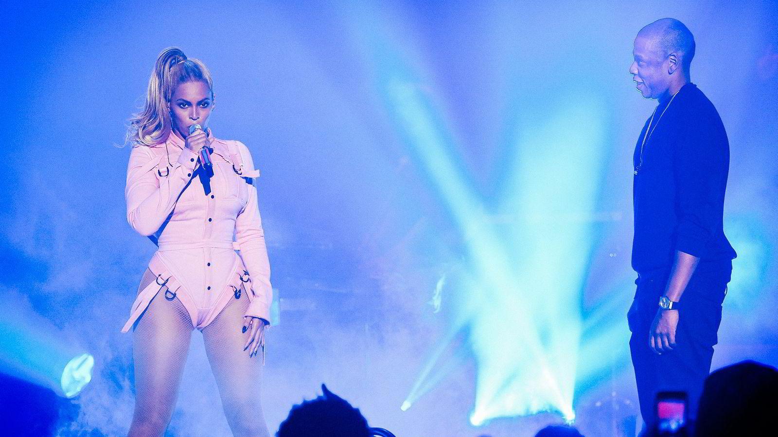 Beyonce and Jay Z on stage last year. Foto: Johannes Worsøe Berg