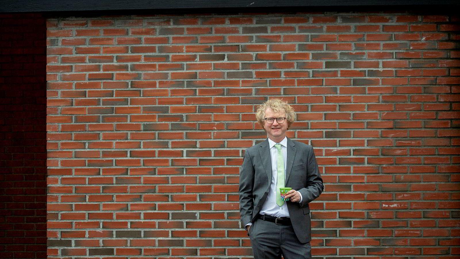 Jan Ludvig Andreassen, sjeføkonom i Eika Gruppen, mener dagens boligbygging ikke er bærekraftig.