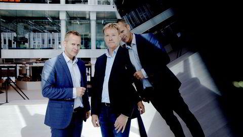 IBM flytter inn i Media City Bergen. Pressekontakt Otto Backer Solberg (til venstre) i IBM og regiondirektør Stein Irgens i IBM. Foto: Paul S. Amundsen