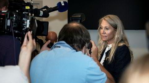 Julie Brodtkorb etter høringen i Stortinget mandag denne uken.