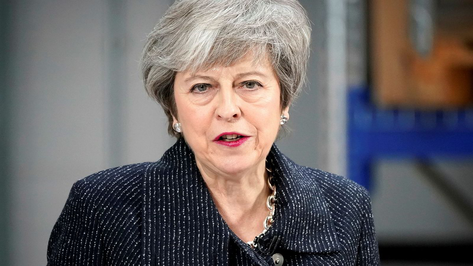 Denne uken står mye på spill for Theresa May og britenes EU-fremtid. Her taler May under et besøk på kvinnedagen i Grimsby forrige uke.