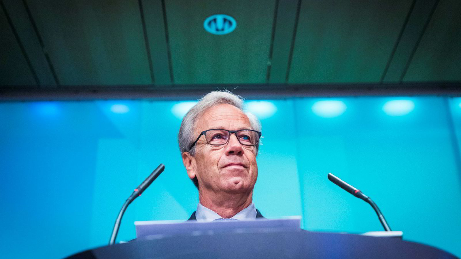 Sentralbanksjef Øystein Olsen presenterer pengepolitisk rapport.