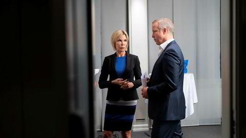 Administrerende direktør Cecilie Grue og tidligere styreleder Lars Christian Beitnes i Element.