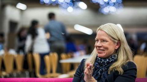 Hr-direktør Solveig Hellebust i DNB har pensjons- og forsikringsgoder få andre bransjer har.