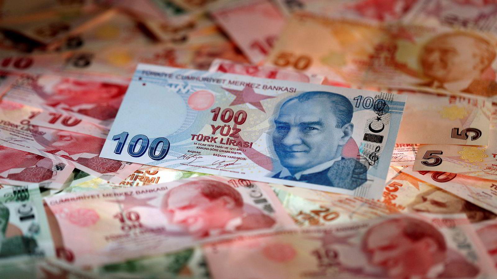 valutakurser tyrkisk lira