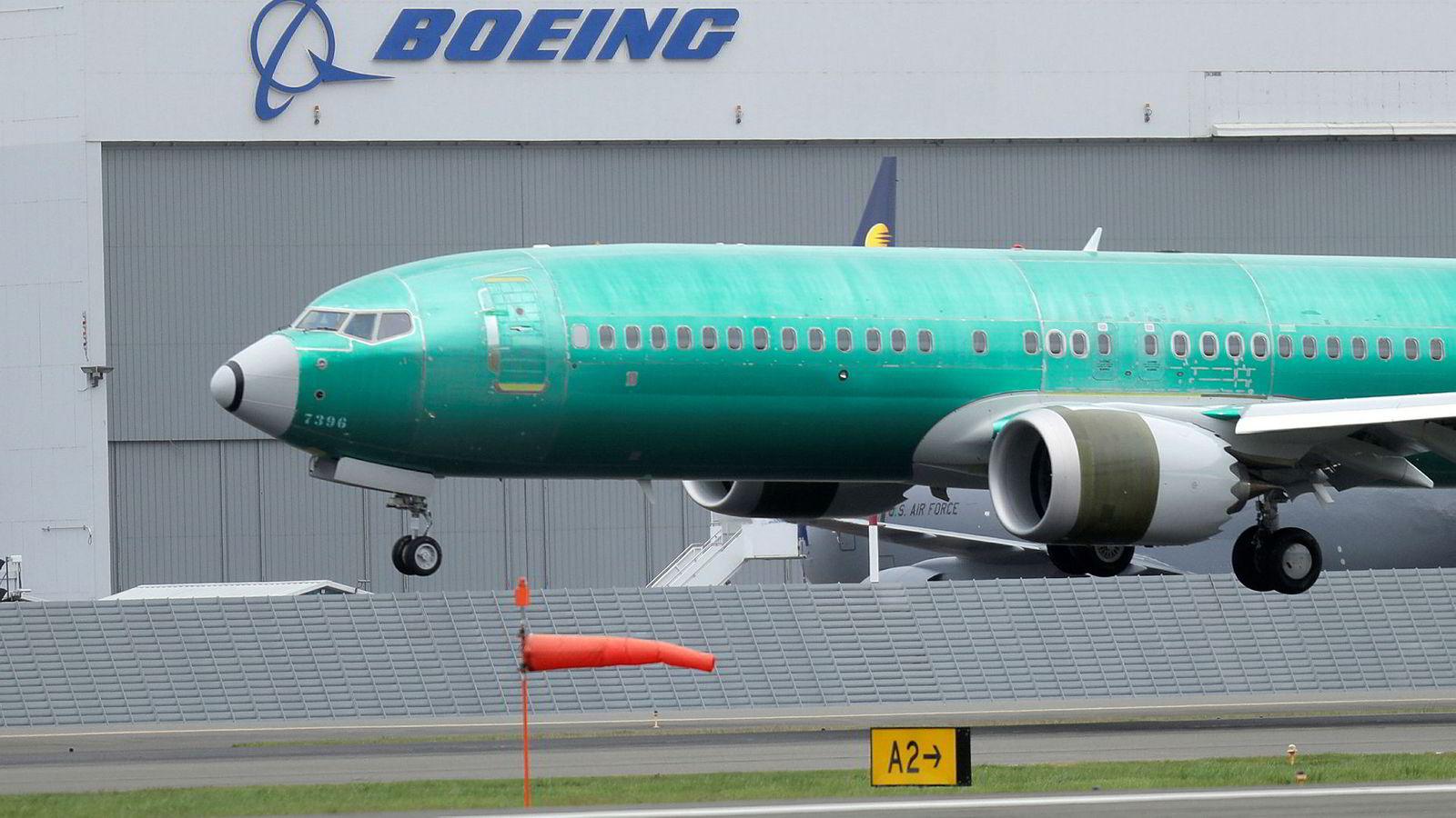 Boeing har foretatt mange tester etter programvareoppdateringen i 737 Max-modellene. Bildet er fra Boeings base i Seattle.