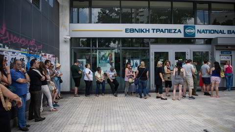 Bankrun i Hellas. Foto: Thomas Haugersveen