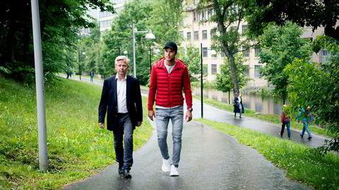 I fjor ville Nicolai Prydz og broren, rallysjåfør Andreas Mikkelsen (t.h.), samarbeide med Telenor om en app for sjåførdata. Nå går de til sak mot mobilkjempen. Foto: Mikaela Berg