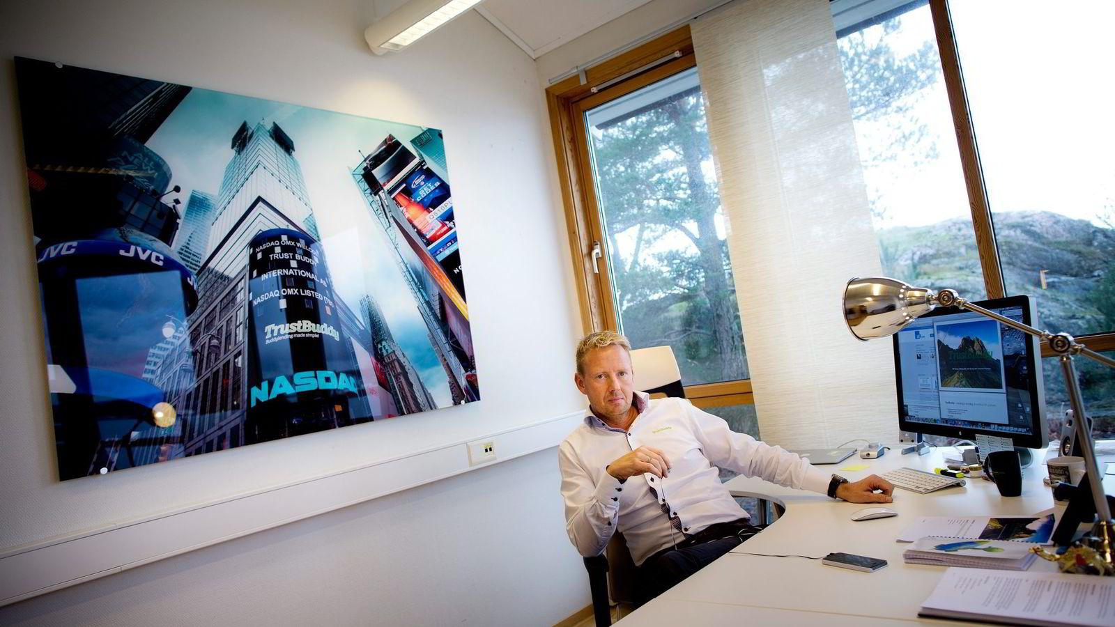 – TrustBuddy var min baby, sier Jens Glasø, som nå går til sak mot styrelederen etter at selskapet gikk konkurs. Foto: Tomm W. Christiansen