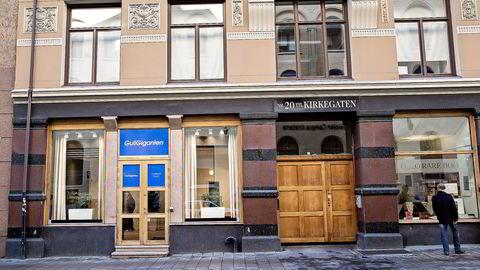 STENGTE DØRENE. Gull Adam i  Kirkegaten 20 i Oslo har avviklet driften og blitt Gullgiganten. Foto: Aleksander Nordahl