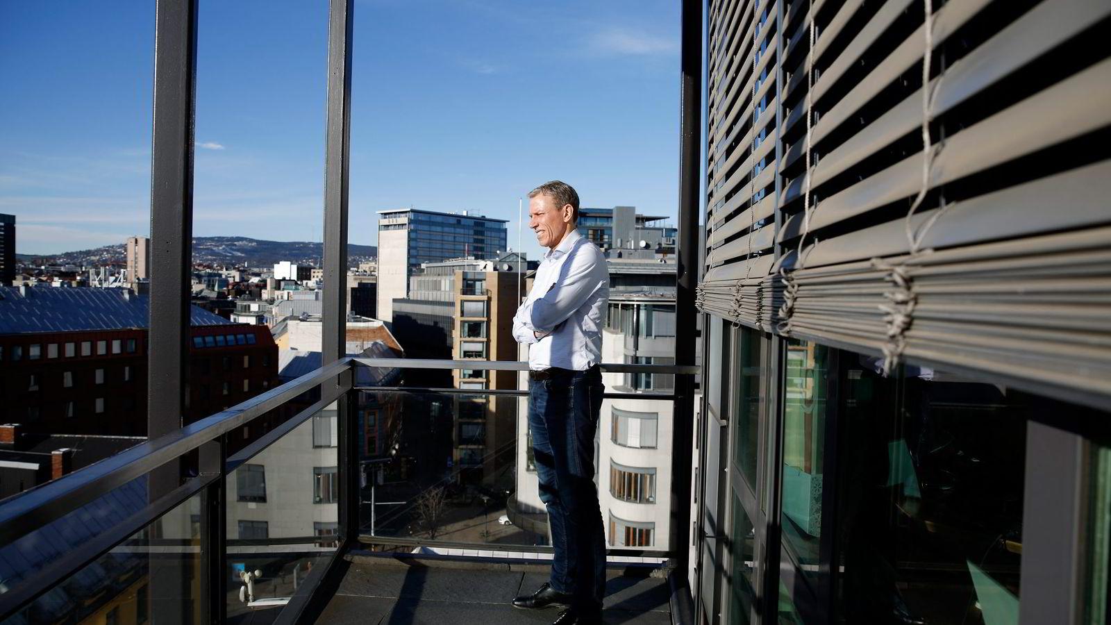 Oslo. 24.02.2016. Rolv Erik Ryssdal, adm. dir i Scibsted, er åpen for at flere mediehus må samarbeide for å ta opp kampen med Google og Facebook. Foto: Fredrik Bjerknes
