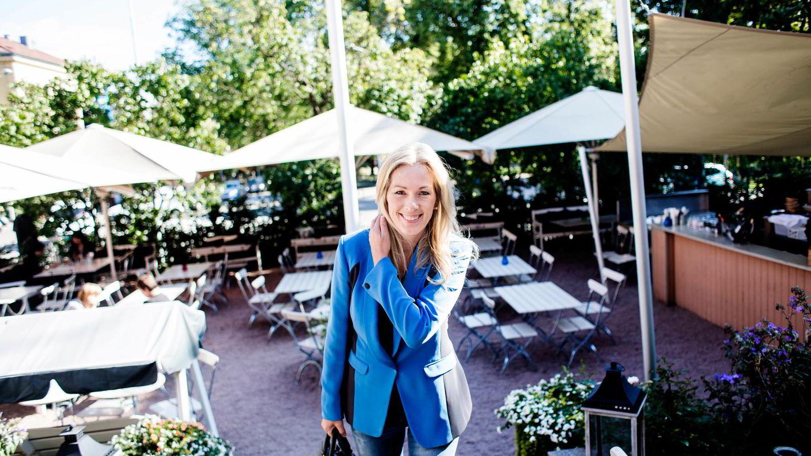 LEDER PÅ TOPP, SELSKAP I BUNN. Anita Krohn Traaseth har fått mye oppmerksomhet i norske medier, men selskapet hun ledet, HP, når ikke like høyt.  Foto: Fredrik Bjerknes.