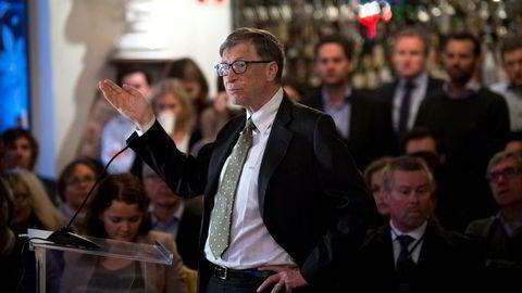 Microsoft-grunnlegger Bill Gates på Cevita. Formuen hans har økt med 63 milliarder kroner fra 2016. Foto: Per Ståle Bugjerde