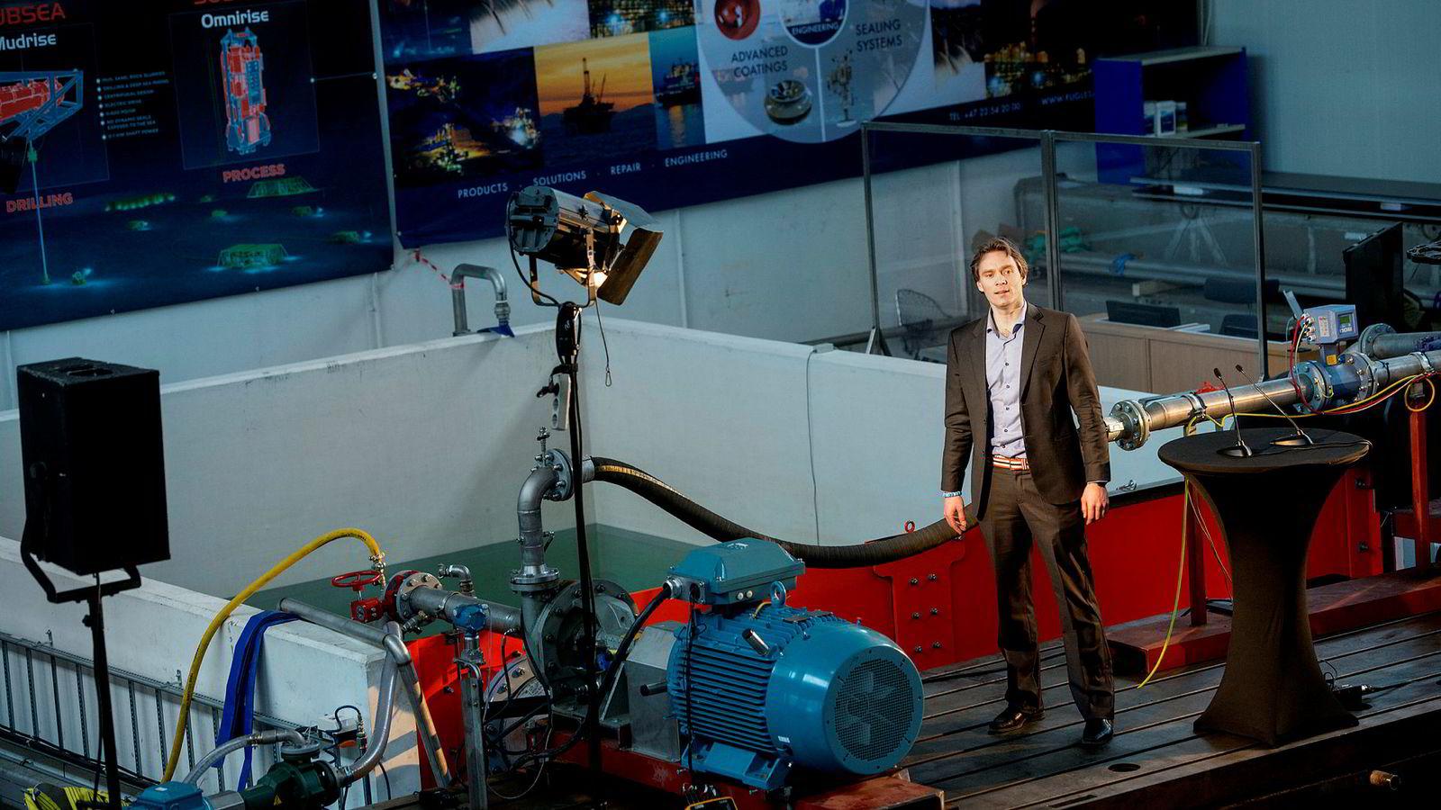 For Fuglesangs Subsea var oljekrisen langt på vei en mulighet til å komme inn i en etablert industri med nye løsninger. Her Aleksander Fuglesang.