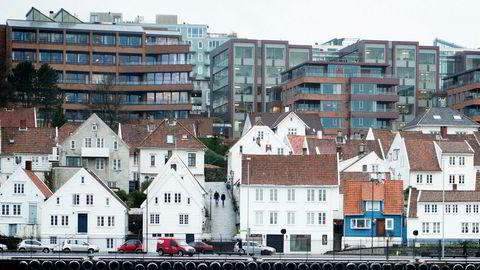 Stavanger var blant byene der boligprisene steg i fjerde kvartal 2018.