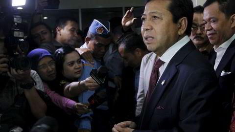 Indonesias nylig avgåtte stortingspresident Setya Novanto benekter korrupsjonspåstandene.Foto: Reuters/Garry Lotulung