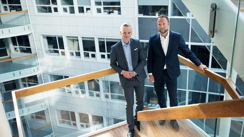 – Mens tredje kvartal normalt er det sesongmessig svakeste kvartalet, klarte vi å oppnå det sterkeste tredjekvartalsresultatet siden 2007, sier administrerende direktør Jonas Ström (til venstre). Her med finansdirektør Geir B. Olsen i ABG Sundal Collier.