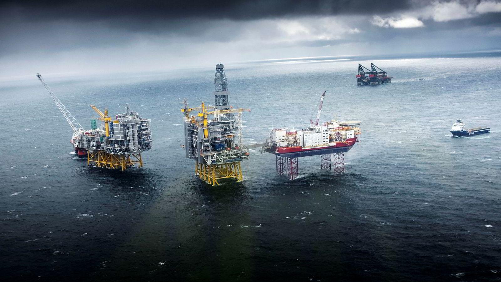Oljeservicesektoren er blant årets store tapere på børs. Det er langt mellom selskapene som har klart seg gjennom 2018 uten verdifall. Her fra Johan Sverdrup-feltet.
