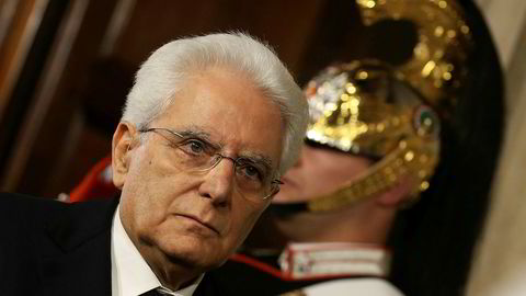 President Sergio Mattarella la i helgen ned veto mot utnevnelsen av Paolo Savona som ny finansminister.