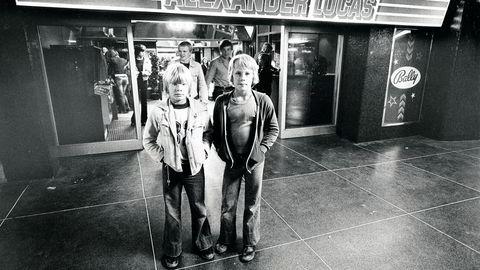 Omstridt. Spillehallen Alexander Lucas, oppkalt etter det svenske navnet til Donald Ducks fetter Anton, åpnet i 1973, og ble omstridt i Stockholm fordi mange mente det var negativt at ungdom hang på spillehaller. Foto: Dokument Press/Per Bjørn