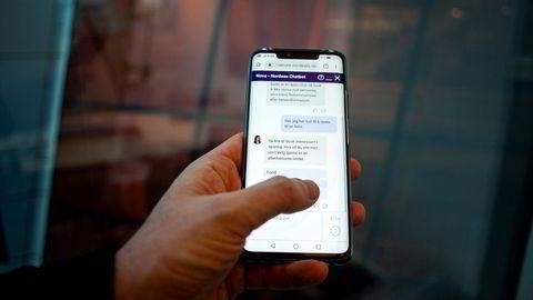 Nordeas chatbot Nora kan svare på generelle henvendelser fra bankens kunder. Tjenesten tilbyr også fem ulike sparefond.