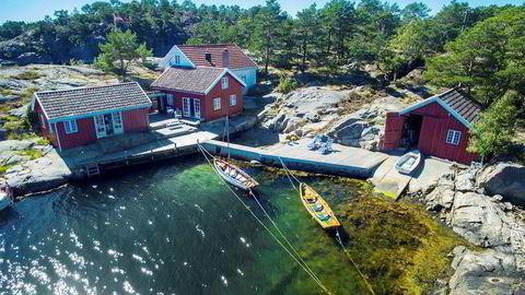 Denne Kragerø-eiendommen gikk for drøyt 19 millioner kroner. Stor bygningsmasse er viktig om man skal oppnå virkelig høye priser, ifølge megler Ronny Jørstad. Foto: Fokus Foto