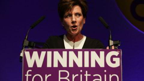Diane James fikk kort tid som leder for det britiske uavhengighetspartiet UKIP. Foto: Daniel Leal-Olivas/AFP photo/NTB scanpix