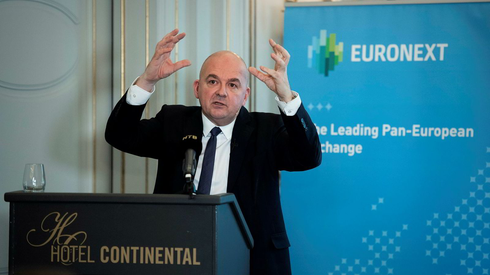 Euronext-sjef Stéphane Boujnah på Hotel Continental.