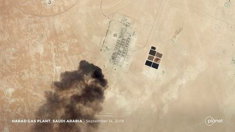 Oljeprosesseringsanlegget Buqyaq i Saudi-Arabia er verdens største i sitt slag. Lørdag ble det angrepet av droner.