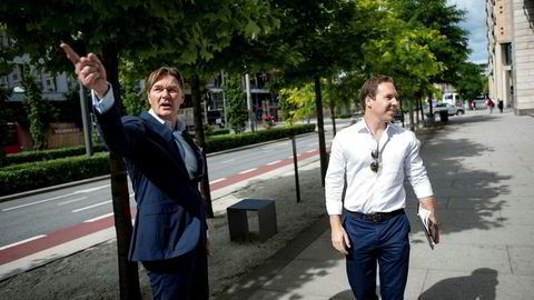 Anders Christian Wilhelmsen (til høyre) er styreleder i familieselskapet Watrium, der pengebingen vokste til 5,3 milliarder kroner i fjor. Han og arbeidende styreleder Alexander Munch-Thore i WAK Family Office står klar til å bruke mer av kontanter til nye investeringer.