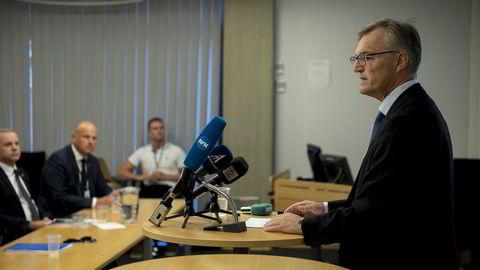 Statoil presenterer sin interne gransking av helikopterulykken på Turøy. Gunnar Breivik, direktør for konserngransking presenterer rapporten. Foto: Carina Johansen /