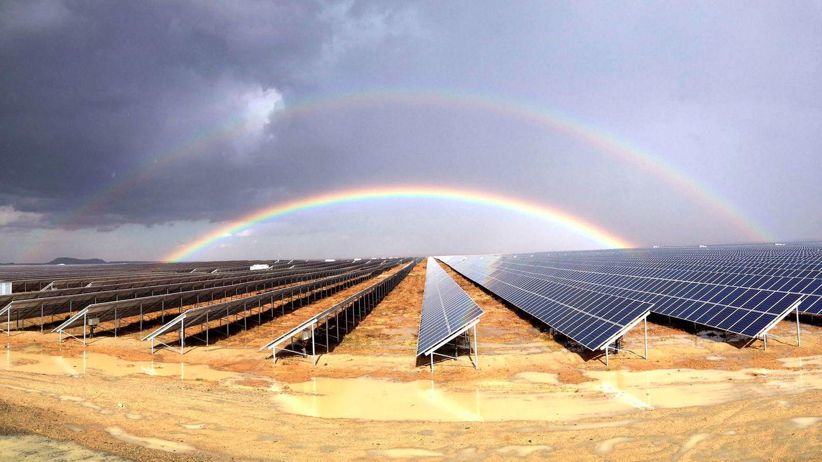 Scatec Solars solpark i Kalkbult i Sør-Afrika.