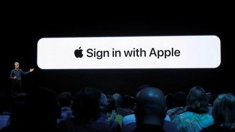 Sign in with Apple. Et mer personvernorientert alternativ til Facebooks og Googels innloggingsløsninger.