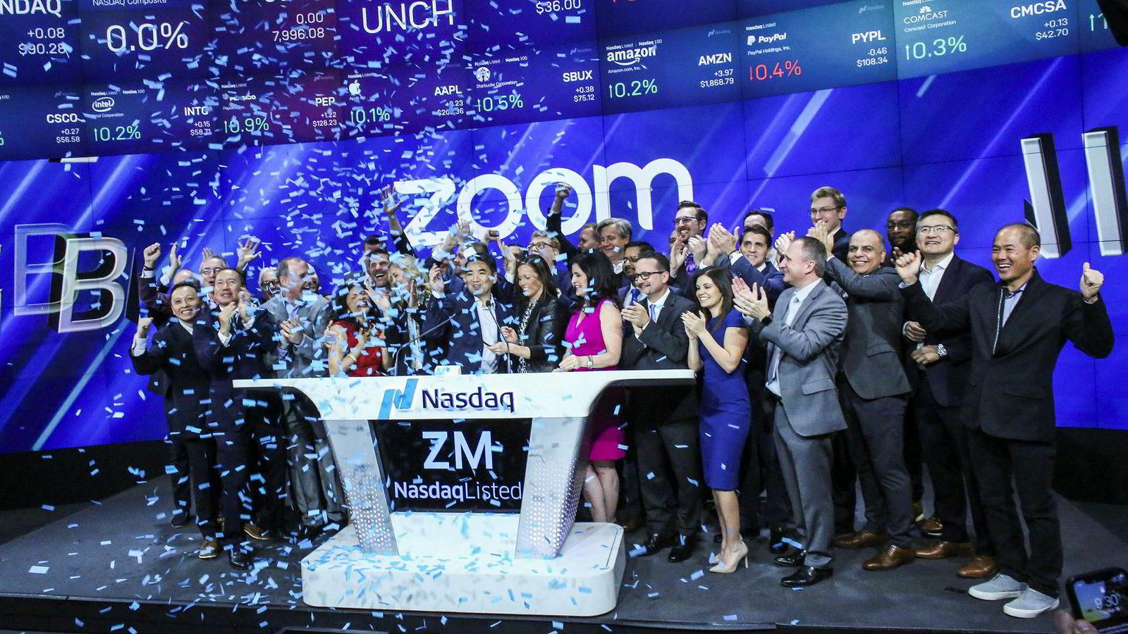 Videoselskapet Zoom ble børsnotert på Nasdaq 18. april. Selskapet har opplevd en voldsom viralvekst for sine betalte produkter, skrive Are Traasdahl.
