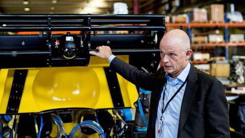 Ståle Kyllingstad i IKM-gruppen, til høyre, har bygget opp datterselskapet IKM Subsea & Technology som er ment å fusjonere med børsnoterte Hunter Group.