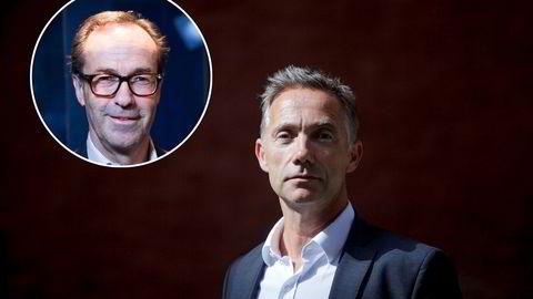 Frode Strand-Nielsen (innfelt) og Henrik Lisæth har gått fra å være nære medarbeidere til å skulle møte hverandre i retten.