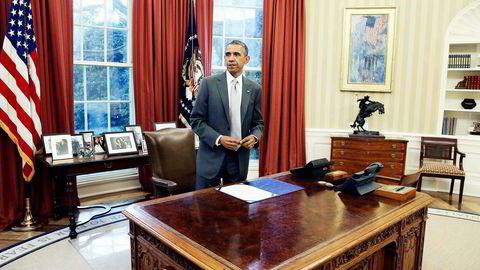 MANGLENDE LEDELSE. I USA raser debatten om Barack Obama og landets manglende lederrolle i verden, det haster med ledelse fra europeisk hold, skriver Janne Haaland Matlary. Foto: Mark Wilson, AFP/NTB Scanpix