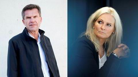 DNBs finansdirektør Ottar Ertzeid og Eikas konsernsjef Hege Toft-Karlsen står mot hverandre om hvordan bankenes kapitalkrav bør utformes – og dermed hvordan konkurransen mellom bankene skal fungere i fremtiden.
