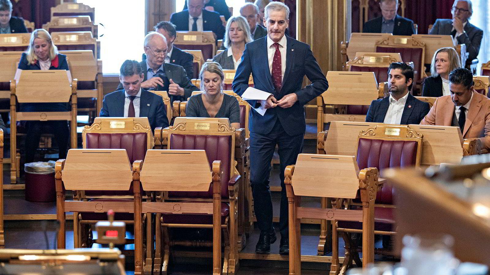 Ap-leder Jonas Gahr Støre legger stor vekt på klima i partiets alternative budsjettforslag for 2019.