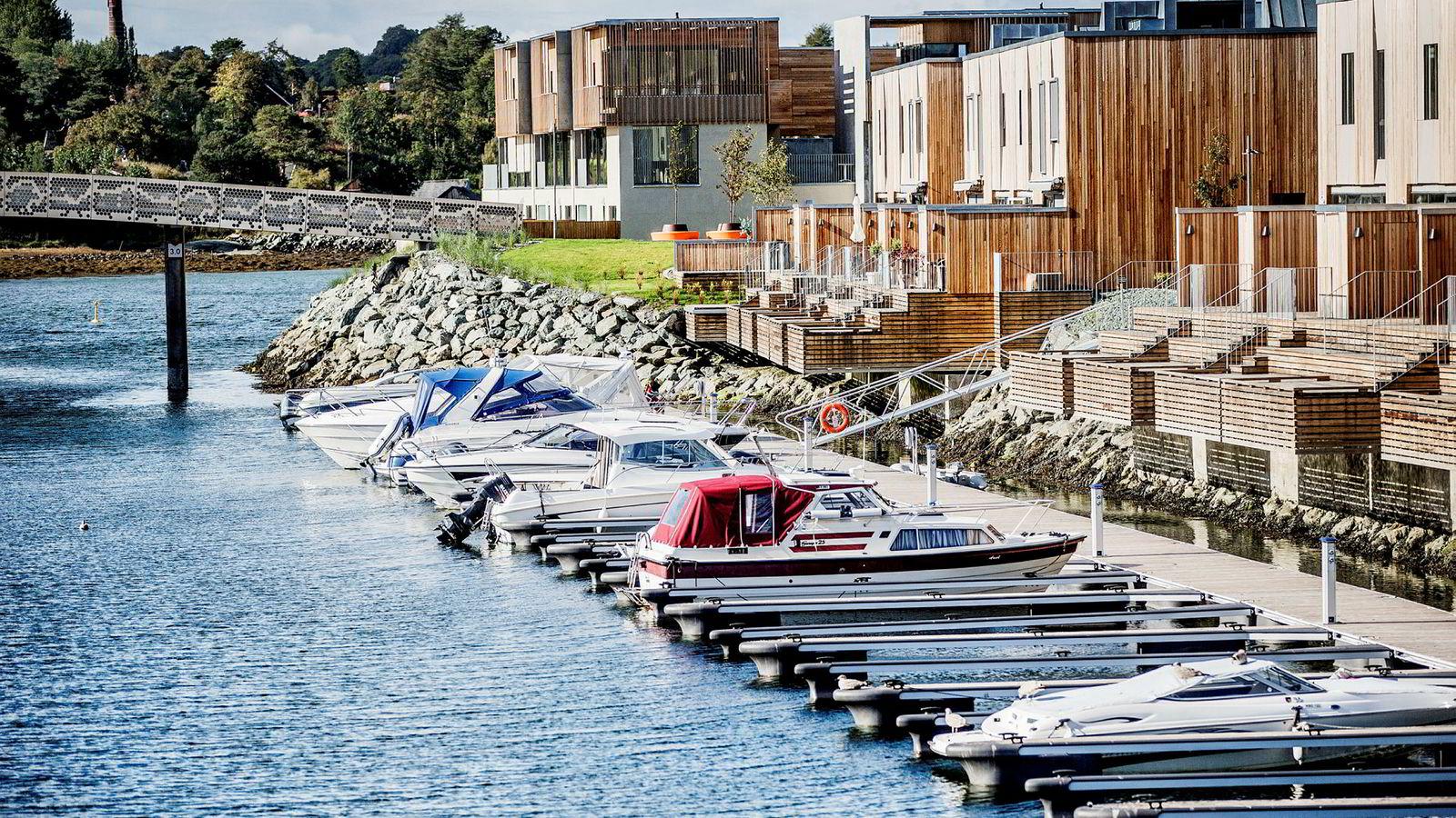 Boligprisene stiger også i mars. Bildet er fra et boligprosjekt på Ranheim i Trondheim. Foto: Øyvind Nordahl Næss