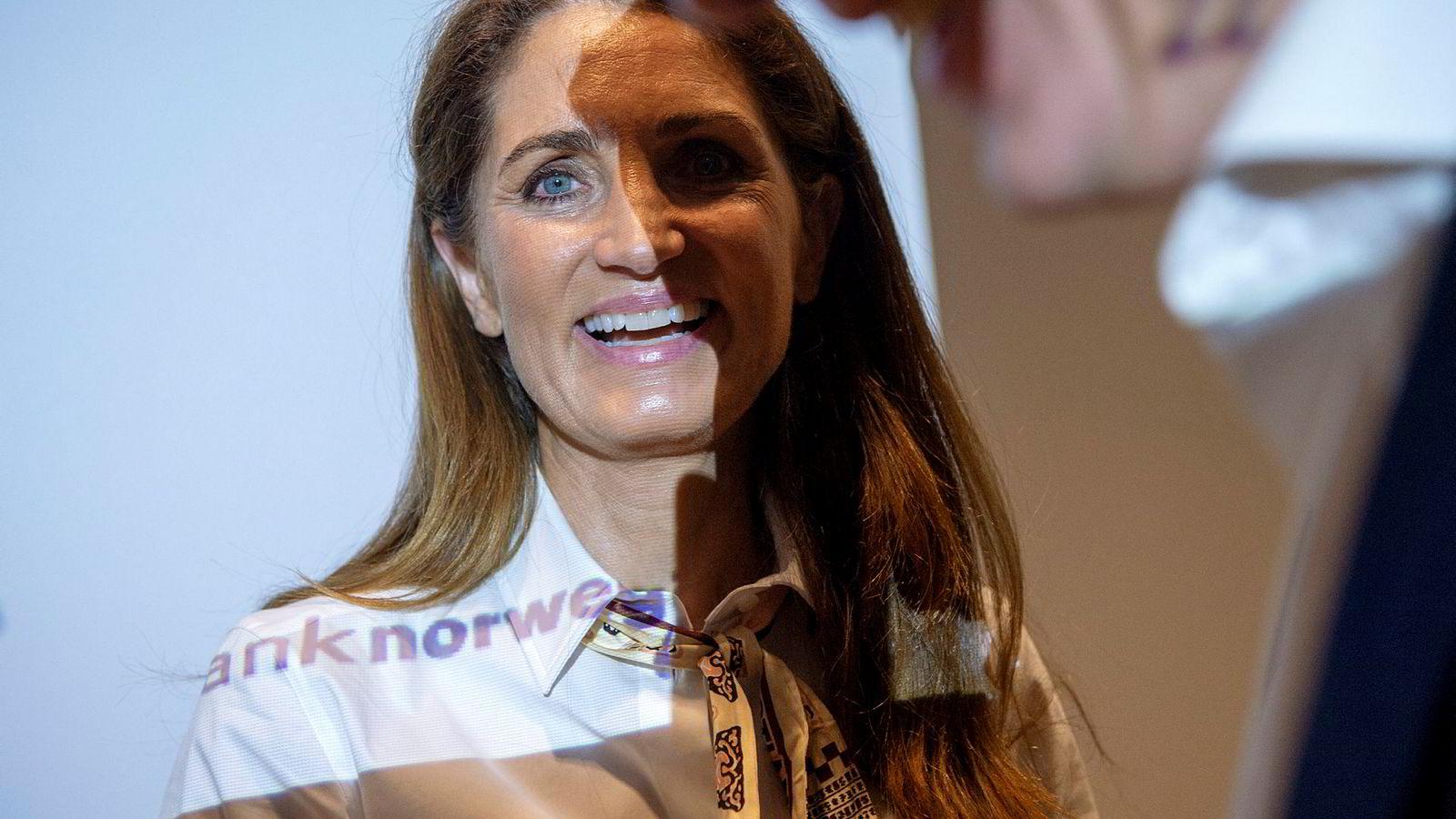 Administrerende direktør Tine Wollebekk i Bank Norwegian får sannsynligvis nye folk inn i styret.