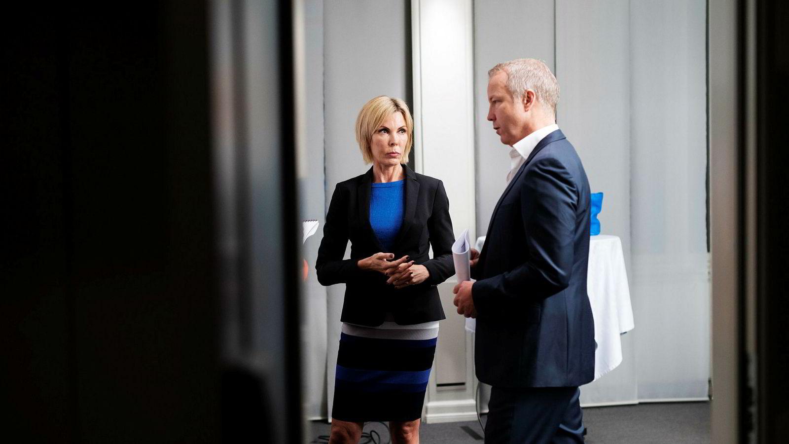 Administrerende direktør Cecilie Grue og styreleder Lars Christian Beitnes i Element Asa.