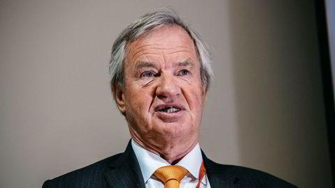 Konsernsjef Bjørn Kjos i Norwegian på generalforsamlingen i april. Han har uttalt til DN at han ikke ønsker å selge flyselskapet.