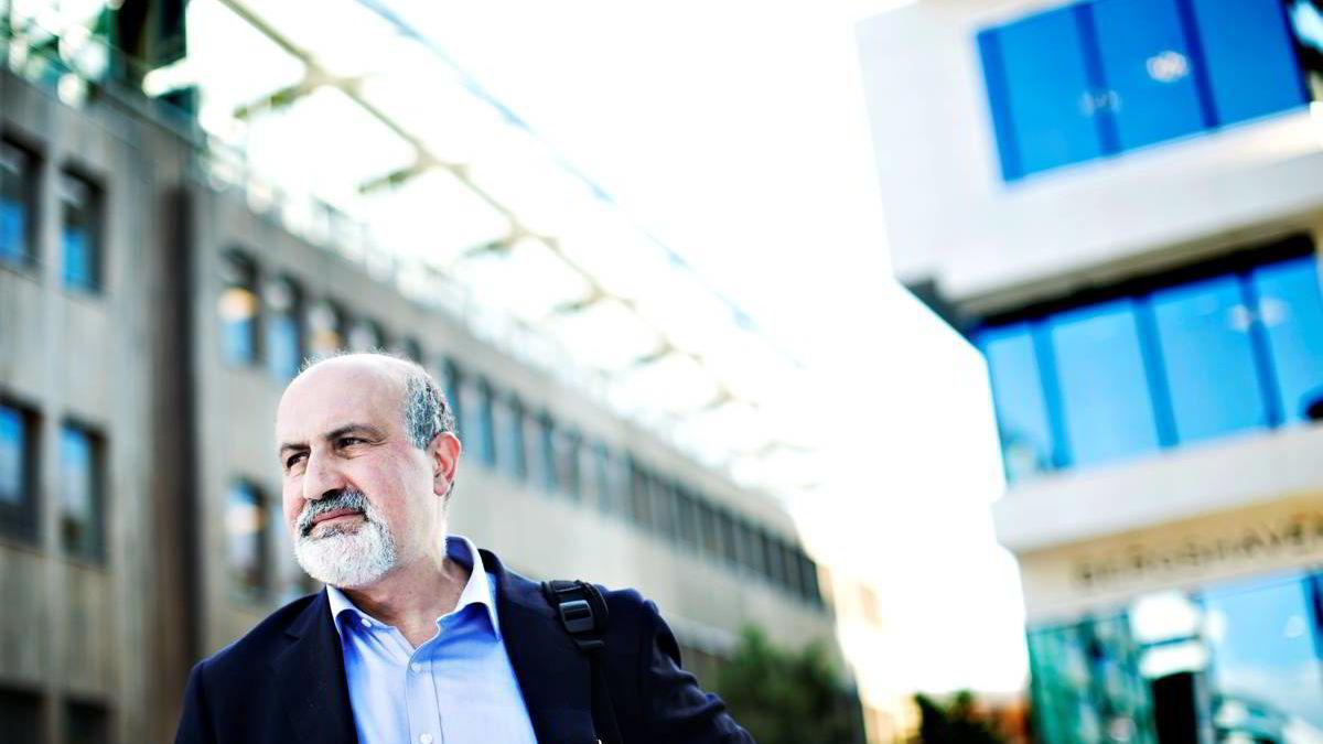 Forfatter og professor Nassim Taleb var i Oslo fredag i forbindelse med forvaltningsselskapet Sector Asset Managements årskonferanse.