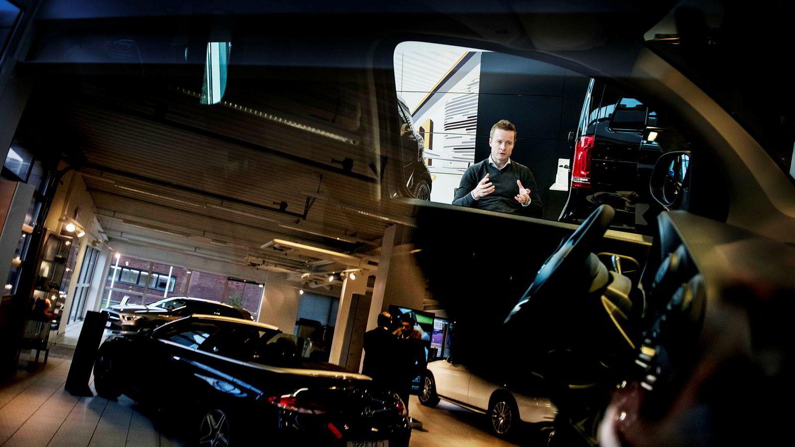 Espen Berg, daglig leder i Erik Arnesen på Helsfyr var en av de bilforhandlerne i Oslo med best lønnsomhet i fjor.