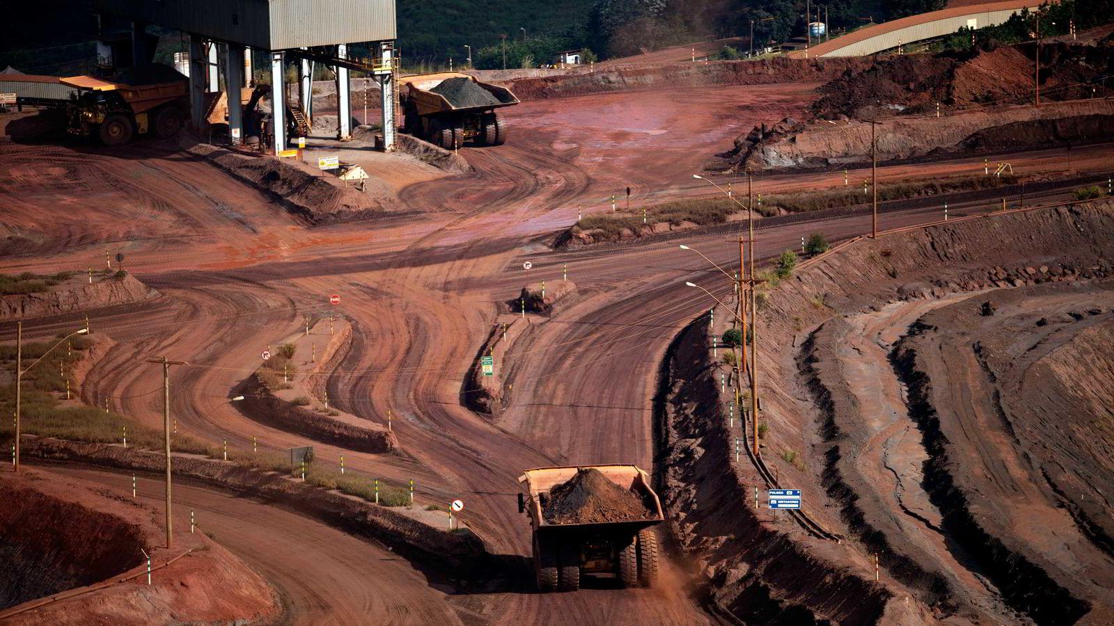 Arkivbilde. Fra et av Vales jernmalmanlegg i brasil. Foto: