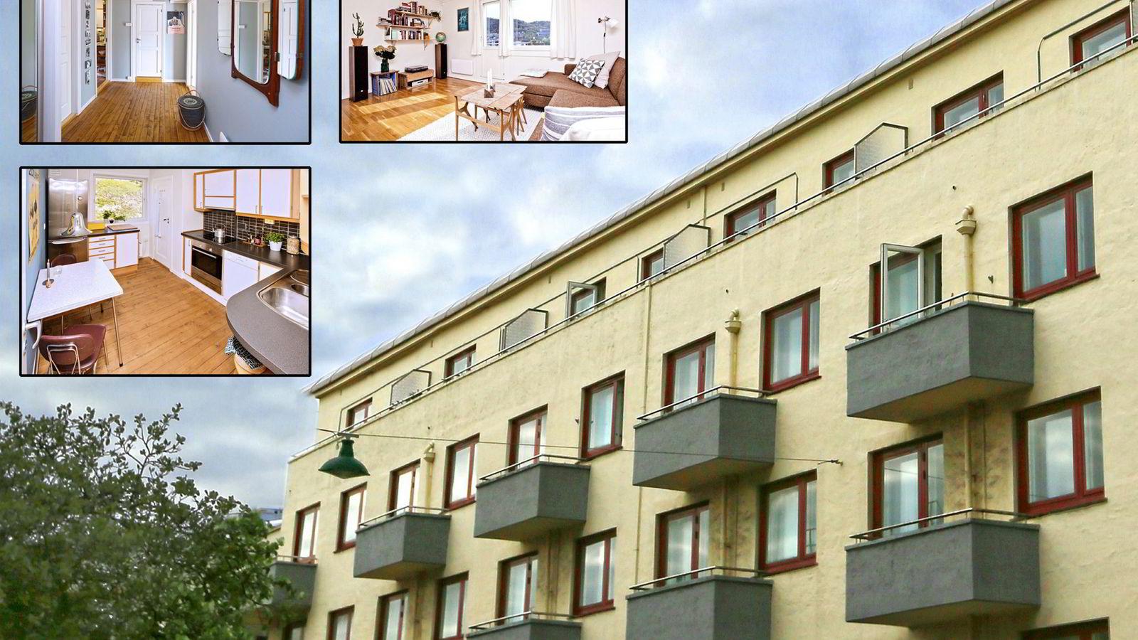 Alf Lund Godbolt (32) og Susann Bugge Kambestad (32). Leiligheten de solgte selv ligger i Bergen.